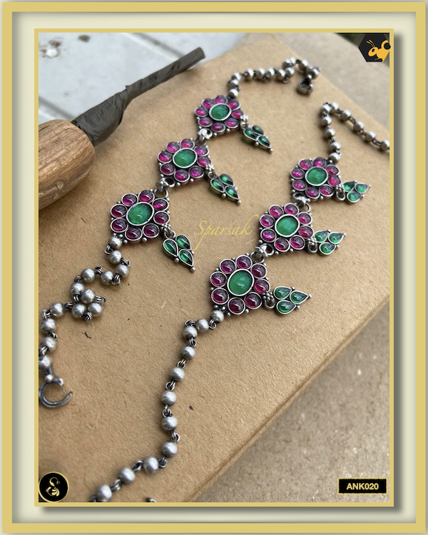 92.5 Silver Jewellery Anklets - ANK020