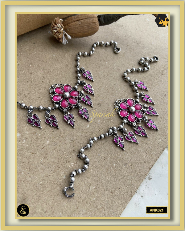 92.5 Silver Jewellery Anklets - ANK021