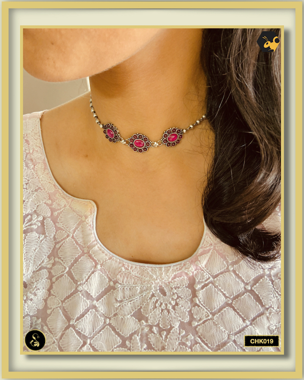 92.5 Silver Jewellery Necklace CHK019