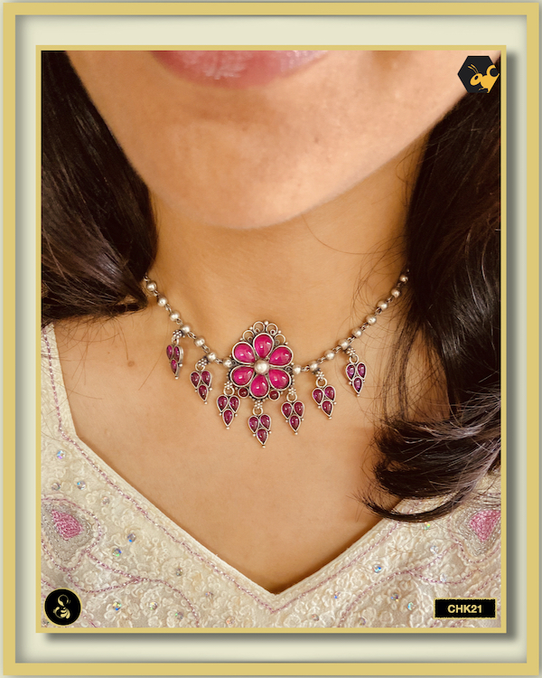 92.5 Silver Jewellery Necklace CHK021