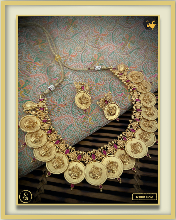 92.5 Silver Jewellery Necklace NT001-Gold