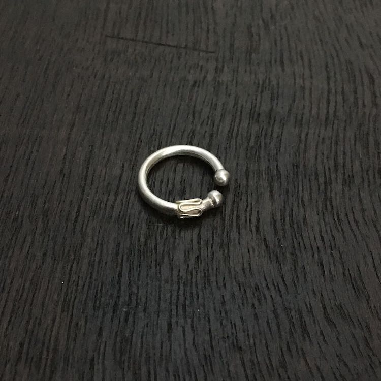 92.5 Silver Jewellery Non Pierced Nose Ring NPNR400001