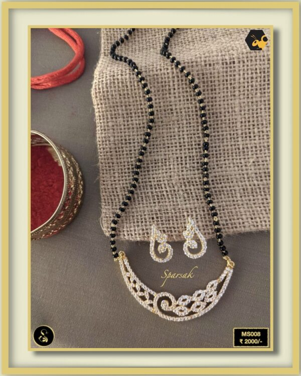 92.5 Silver Jewellery Mangalsutra MS008