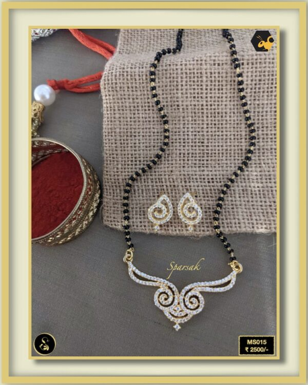 92.5 Silver Jewellery Mangalsutra MS015