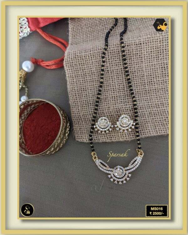 92.5 Silver Jewellery Mangalsutra MS016